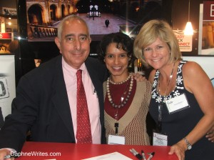 With Actor Ben Stein and Fellow Writer Tracey Russell at ICRS, 2008.