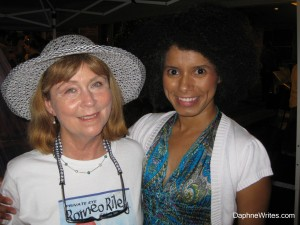 With April Whitt, author of the Romeo Riley Series, and member of LCW, at the 2013 Polk Authors and Illustrators Festival